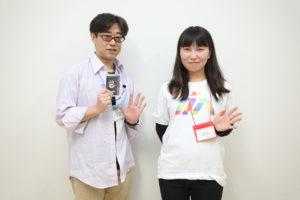 写真:榊友哉さん(左)とスタッフの矢吹さん(右)