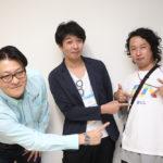 町田知紀さん(左)、中江秀幸さん(中央)、スタッフの久次さん
