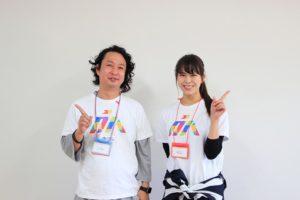 写真:登壇の久次昌志さん(左)と司会の東さん