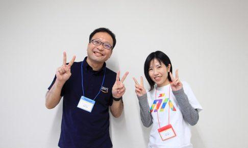 写真:藤原吉規さん(左)と司会の沖本さん(右)