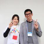 写真:藤本博樹さん(右)と司会の藤本さん(左)